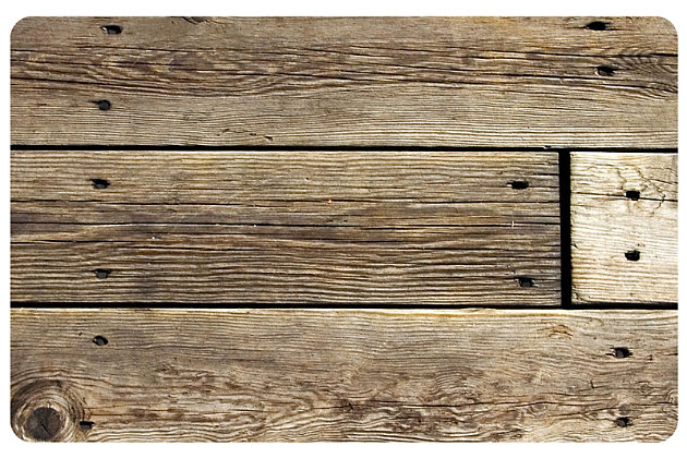"Home Accents FoFlor 2'1"" x 5' Rustic Wood Accent Runner, , large"