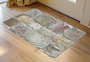 "Home Accents FoFlor 1'11"" x 3' Rock Wall Accent Mat, , rollover"
