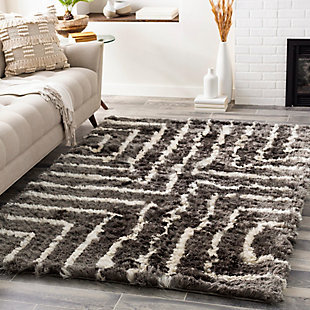 "Surya 5' x 7'6"" Area Rug, Medium Gray/Cream, rollover"
