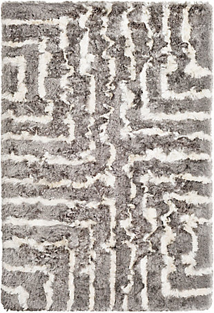 "Surya 5' x 7'6"" Area Rug, Medium Gray/Cream, large"