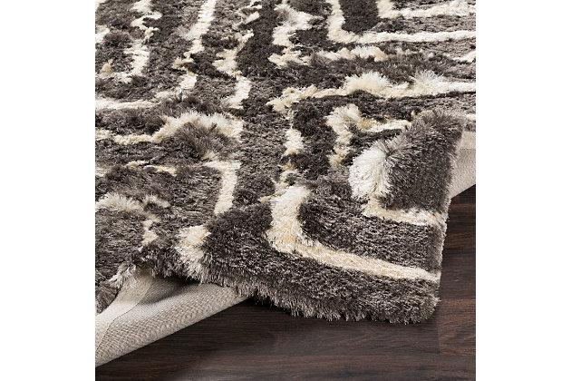 "World Needle 5' x 7'6"" Area Rug, Medium Gray/Cream, large"