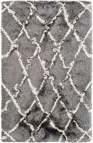 "Surya 5' x 7'6"" Area Rug, Medium Gray/Cream, large"