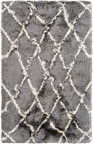 Surya 8' x 10' Area Rug, Medium Gray/Cream, large