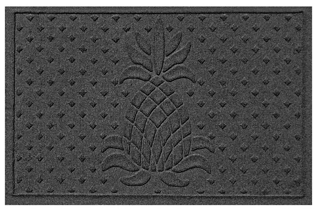 "Home Accents Aqua Shield 1'11"" x 3' Diamond Pineapple Indoor/Outdoor Door, Gray, large"