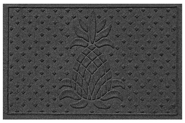 """Home Accents Aqua Shield 1'11"""" x 3' Diamond Pineapple Indoor/Outdoor Door, Gray, large"""