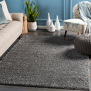"""Modern 5'3"""" x 7'3"""" Area Rug, Charcoal, rollover"""
