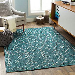 "Global Indoor/Outdoor 5'3"" x 7'7"" Area Rug, Multi, rollover"