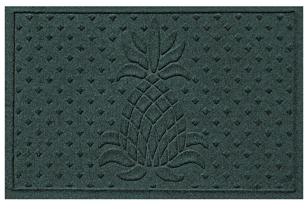 """Home Accents Aqua Shield 1'11"""" x 3' Diamond Pineapple Indoor/Outdoor Door, Green, large"""
