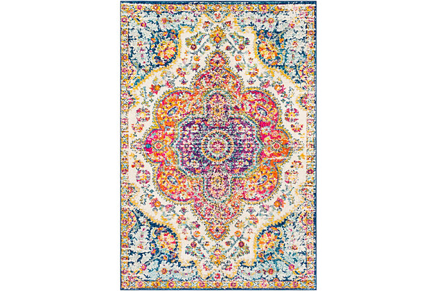 "Traditional 7'10"" x 7'10"" Area Rug, Multi, large"
