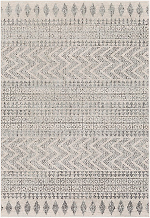 """Global 5'3"""" x 7'6"""" Area Rug, Two-tone Gray/Ivory, large"""