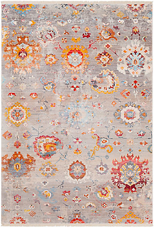 "Traditional 3'11"" x 5'7"" Area Rug, Multi, rollover"