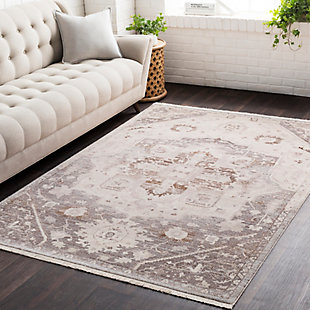 """Traditional Traditional 5' x 7'9"""" Area Rug, Multi, rollover"""