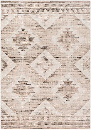 """Traditional 5'3"""" x 7'7"""" Area Rug, Camel/Black/White, large"""