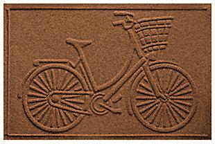 """Home Accents Aqua Shield 1'11"""" x 3' Nantucket Bicycle Indoor/Outdoor Doormat, Brown, large"""