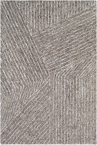 "Modern 5' x 7'6"" Area Rug, Multi, large"