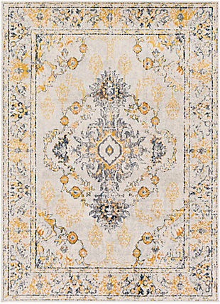 "Traditional 5'3"" x 7' Area Rug, Multi, large"