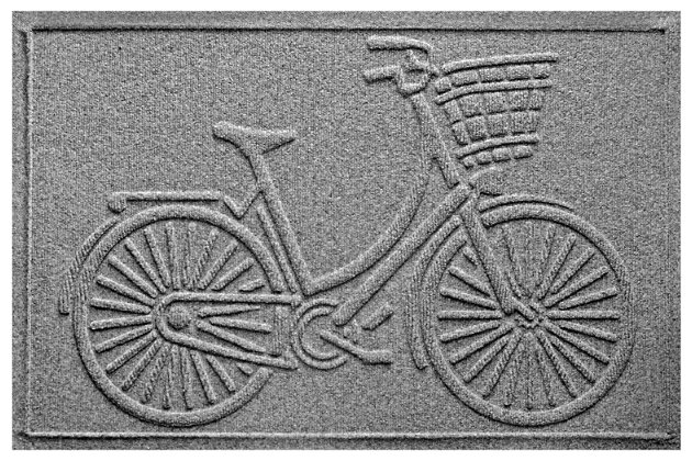 "Home Accents Aqua Shield 1'11"" x 3' Nantucket Bicycle Indoor/Outdoor Door, Gray, large"