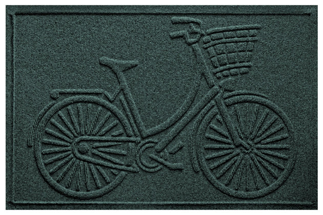 Home Accents Aqua Shield 2' x 3' Nantucket Bicycle Doorma...