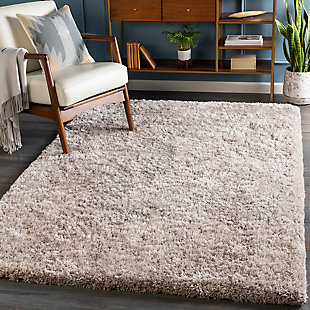 Modern 5' x 8' Area Rug, Light Gray, rollover