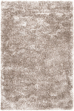 Modern 5' x 8' Area Rug, Light Gray, large