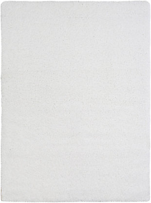 "Modern 5'3"" x 7'3"" Area Rug, White, large"