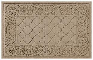"Home Accents Aqua Shield 1'11"" x 3' Rosalie Indoor/Outdoor Doormat, Beige, large"