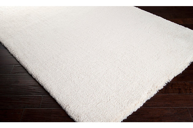 Modern 5' x 7' Area Rug, White, large