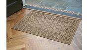 """Home Accents Aqua Shield 1'11"""" x 3' Rosalie Indoor/Outdoor Doormat, Beige, rollover"""