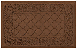 "Home Accents Aqua Shield 1'11"" x 3' Rosalie Indoor/Outdoor Doormat, Brown, large"