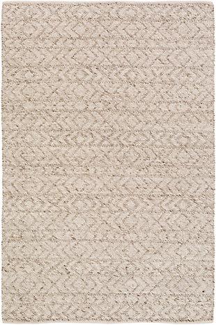 """World Needle 5' x 7'6"""" Area Rug, White/Ivory/Taupe, large"""