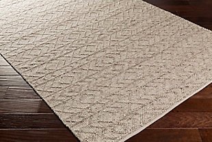 """Modern 5' x 7'6"""" Area Rug, White/Ivory/Taupe, large"""