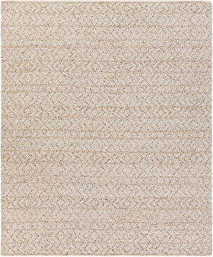 Modern 8' x 10' Area Rug, White, large