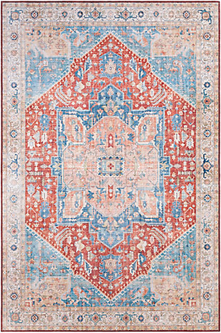 """Traditional 5' x 7'6"""" Area Rug, Multi, large"""