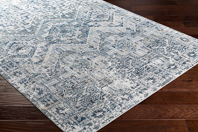 """Traditional 5'3"""" x 7'3"""" Area Rug, Multi, large"""