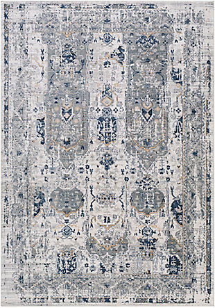 "Traditional 5'3"" x 7'3"" Area Rug, Multi, rollover"