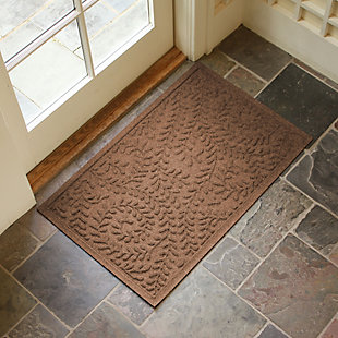 "Home Accents Aqua Shield 1'11"" x 3' Boxwood Indoor/Outdoor Doormat, Brown, rollover"