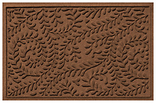 "Home Accents Aqua Shield 1'11"" x 3' Boxwood Indoor/Outdoor Doormat, Brown, large"