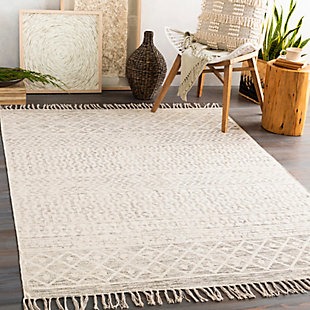 "Global 5' x 7'6"" Area Rug, Charcoal/Beige, rollover"