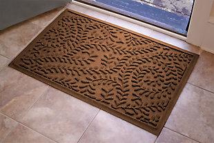 """Home Accents Aqua Shield 1'11"""" x 3' Boxwood Indoor/Outdoor Doormat, Brown, large"""