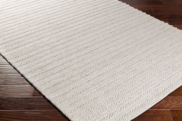 "Surya 5' x 7'6"" Area Rug, Light Gray, large"
