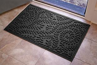 "Home Accents Aqua Shield 1'11"" x 3' Boxwood Indoor/Outdoor Doormat, Gray, large"