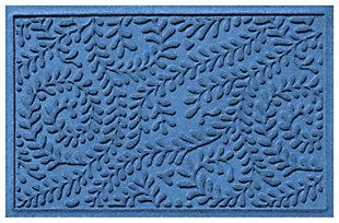 "Home Accents Aqua Shield 1'11"" x 3' Boxwood Indoor/Outdoor Doormat, Blue, large"