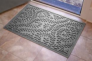 "Home Accents Aqua Shield 1'11"" x 3' Boxwood Indoor/Outdoor Doormat, Red, large"