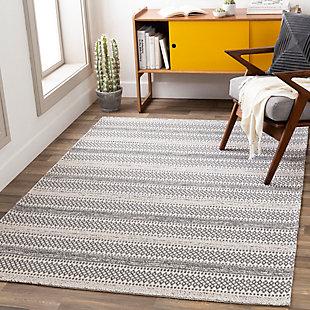 "Surya La Casa Washable 5'3"" x 7'3"" Area Rug, Gray/Charcoal/Ivory, rollover"
