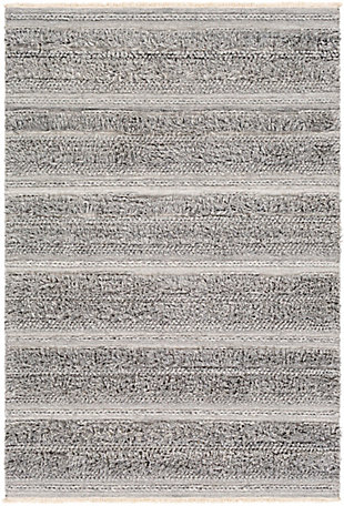 "Surya 5' x 7'6"" Area Rug, Medium Gray/Cream/White, large"