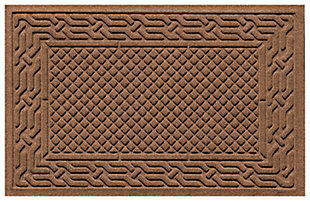 "Home Accents Aqua Shield 1'11"" x 3' Acropolis Indoor/Outdoor Doormat, Brown, large"