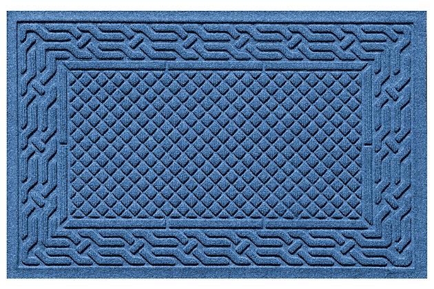 "Home Accents Aqua Shield 1'11"" x 3' Acropolis Indoor/Outdoor Doormat, Blue, large"