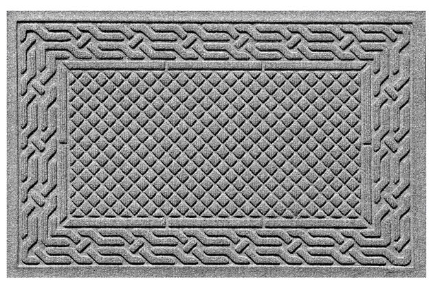 "Home Accents Aqua Shield 1'11"" x 3' Acropolis Indoor/Outdoor Doormat, Gray, large"