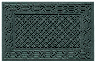 "Home Accents Aqua Shield 1'11"" x 3' Acropolis Indoor/Outdoor Doormat, Green, large"