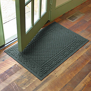 "Home Accents Aqua Shield 1'11"" x 3' Acropolis Indoor/Outdoor Doormat, Green, rollover"